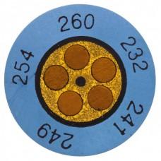 Круглые термоиндикаторы Testo Testoterm измерительный диапазон +116 … +138 °C